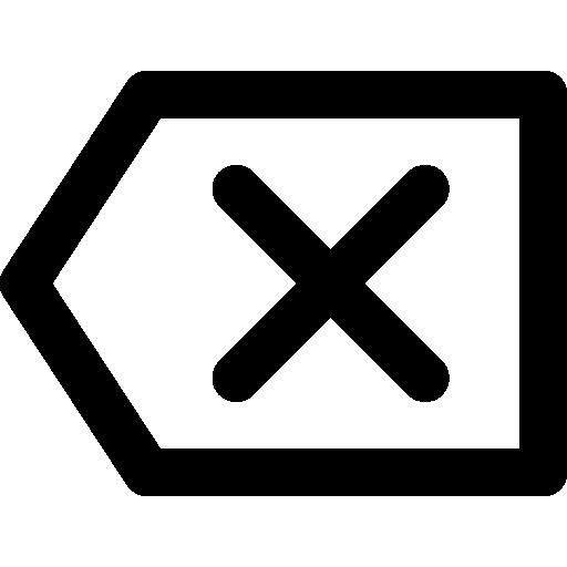 Backspace  free icon