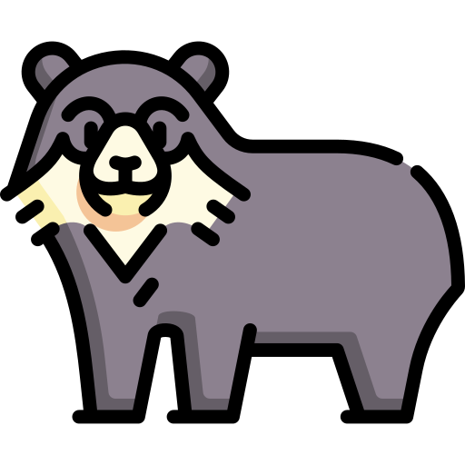 Spectacled bear  free icon