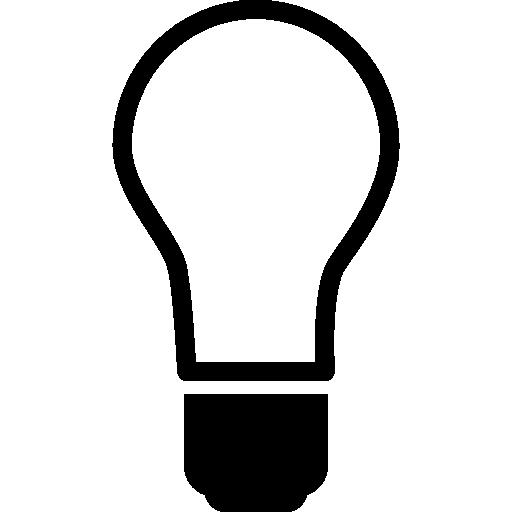 Лампочка выключена  бесплатно иконка