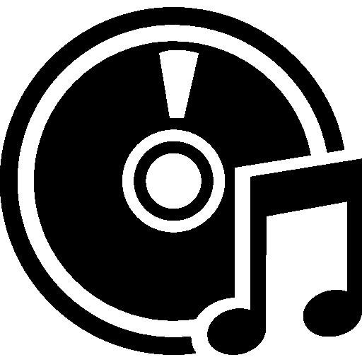 cd de musique  Icône gratuit