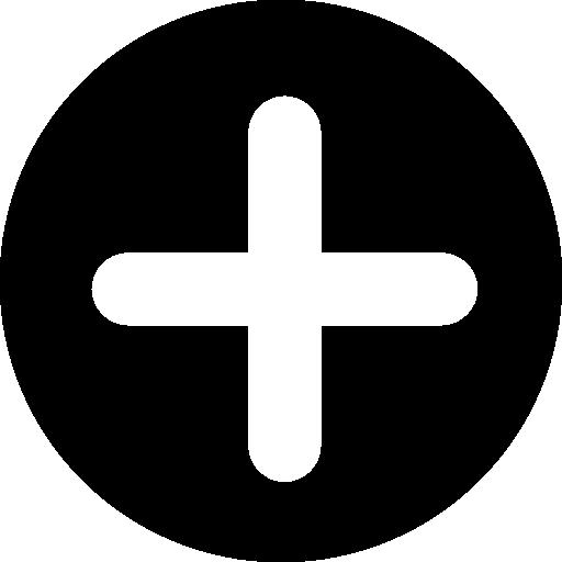 검은 색 원 안에 더하기 기호가있는 버튼 추가  무료 아이콘