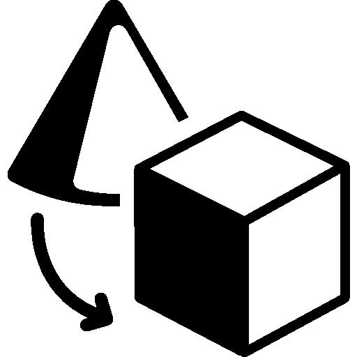 Objects transform interface symbol  free icon