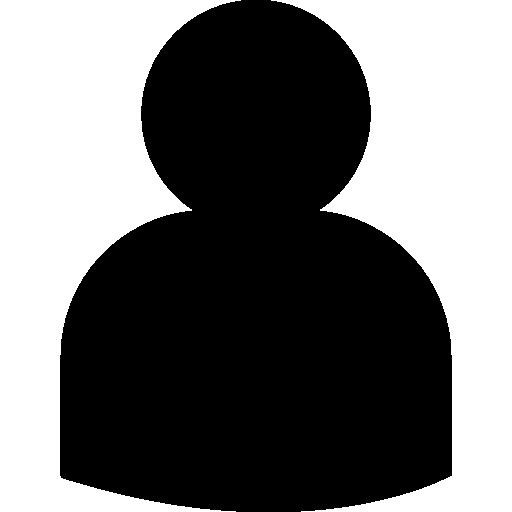 usuario negro forma de cerca  icono gratis