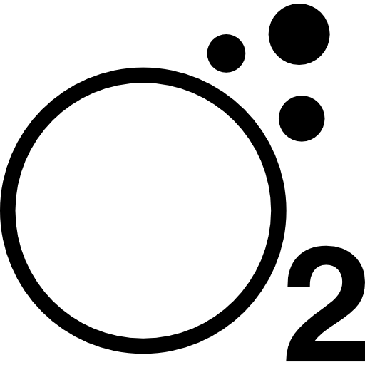 Oxygen symbol  free icon