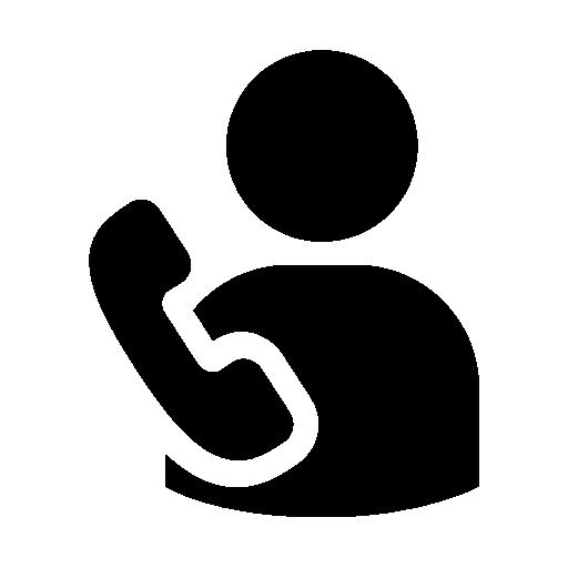 Пользователь по телефону  бесплатно иконка