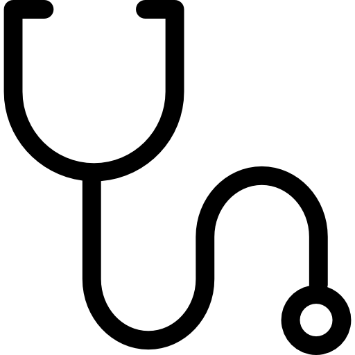 Stethoscope outline variant  free icon