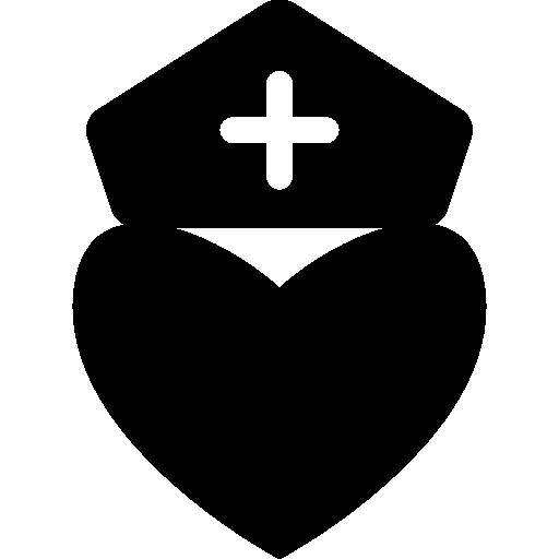 corazón de enfermera  icono gratis