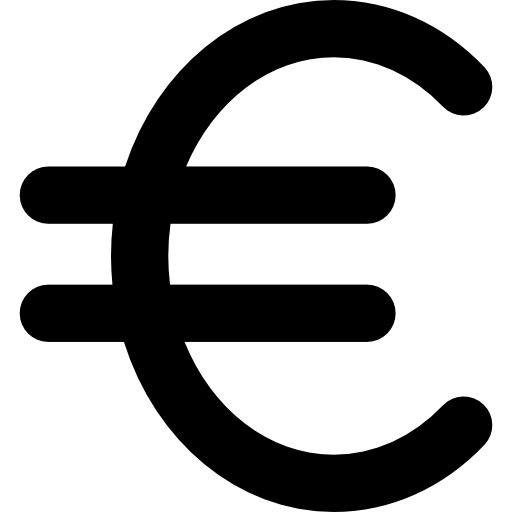 Euro currency symbol  free icon