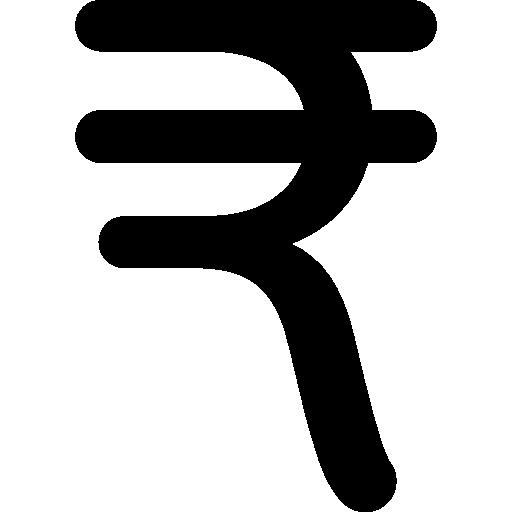 símbolo monetário da rupia indiana  grátis ícone