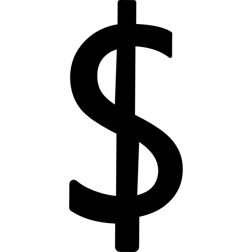 símbolo da moeda dólar  grátis ícone