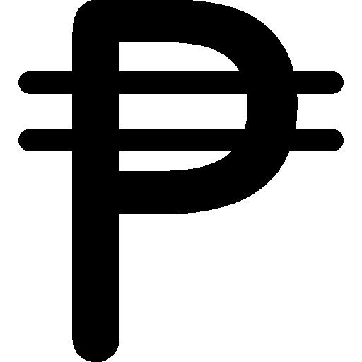 símbolo da moeda peso cubano  grátis ícone