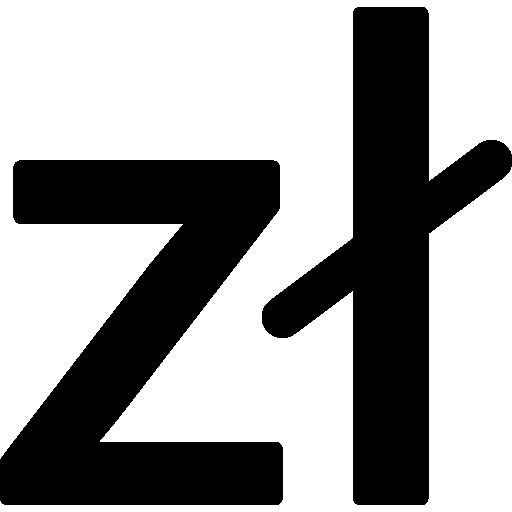 símbolo da moeda zloty da polônia  grátis ícone