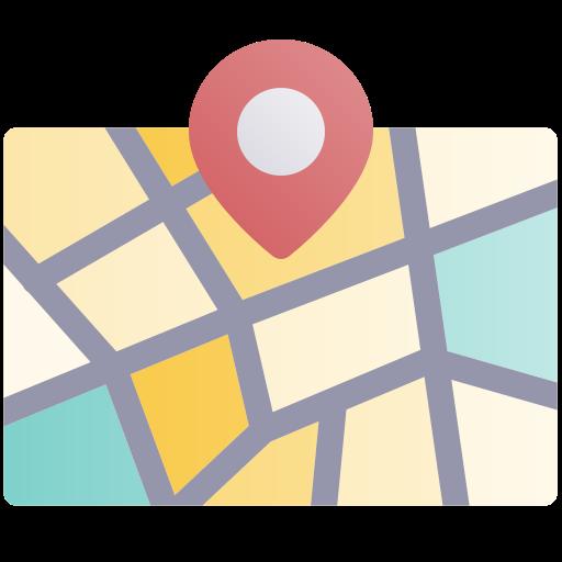 emplacement de la carte  Icône gratuit