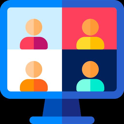 videoconferência  grátis ícone