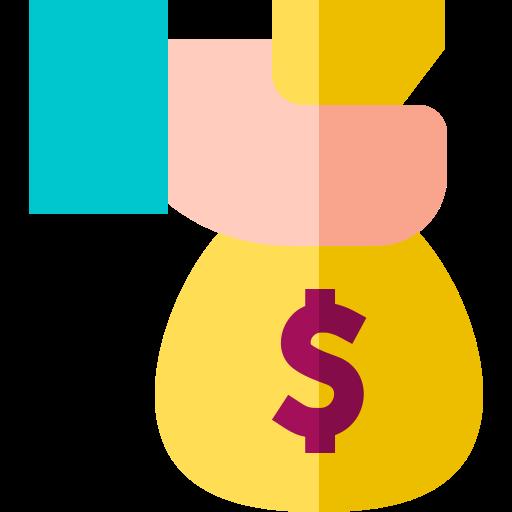 bolsa de dinero  icono gratis