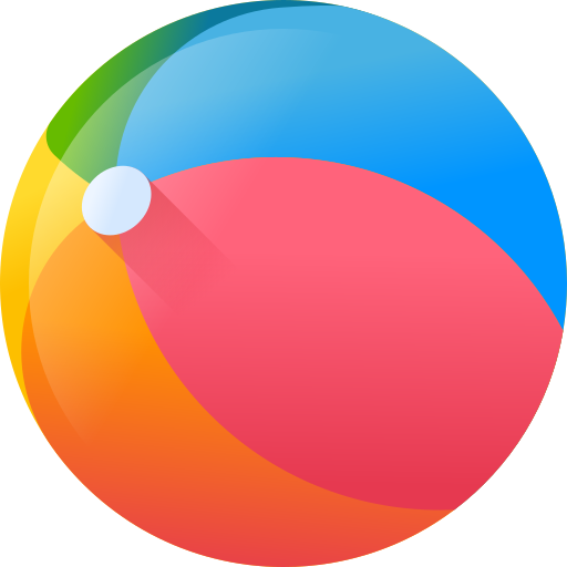 Beach ball  free icon