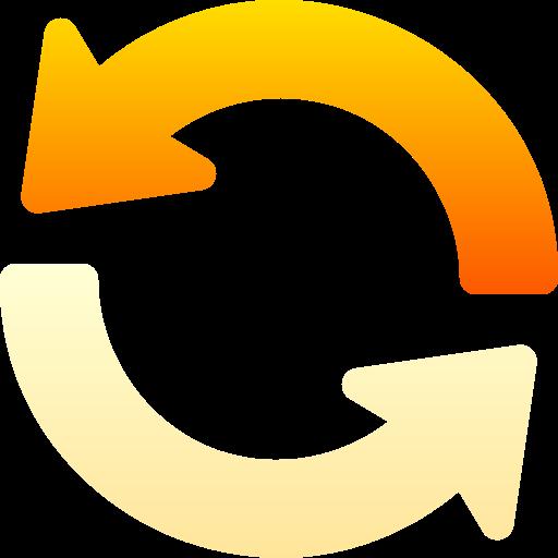 Circular arrow  free icon