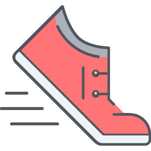 zapatos para correr  icono gratis