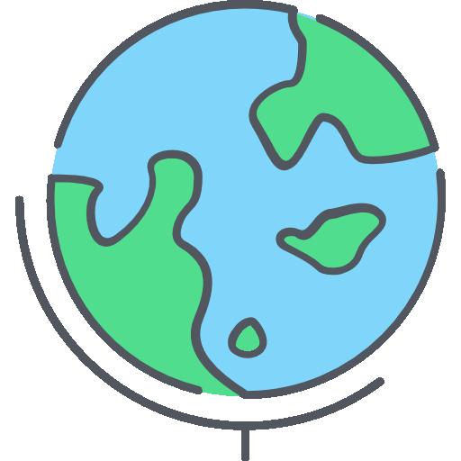globe terrestre  Icône gratuit