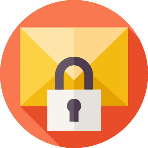 Confidential email  free icon