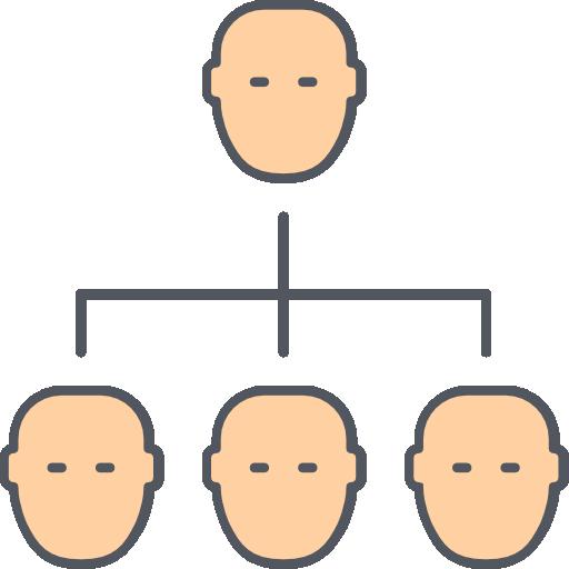 estructura jerarquica  icono gratis