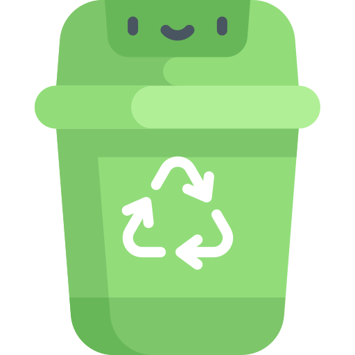 Recycle bin  free icon