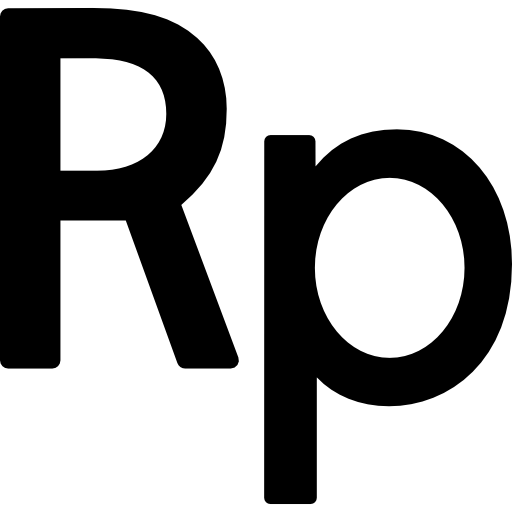 Indonesia rupiah currency symbol  free icon