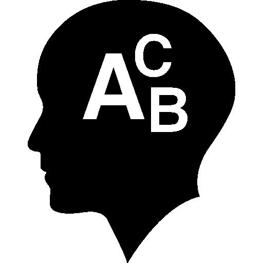 glatze mit alphabetbuchstaben abc  kostenlos Icon