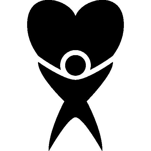 mensch mit großem herzen  kostenlos Icon