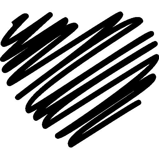forme de coeur graffiti  Icône gratuit
