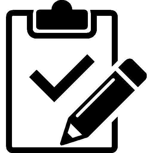 variante de portapapeles con lápiz y variante de marca de verificación  icono gratis