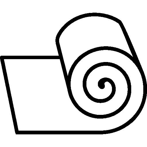 Gauze bandage roll outline  free icon