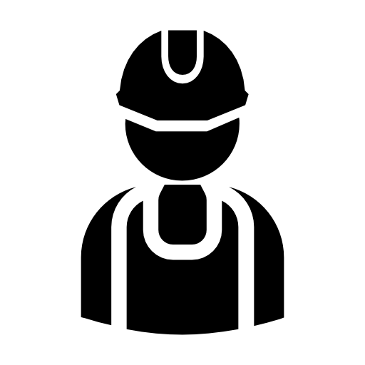 silhueta de trabalhador prático  grátis ícone
