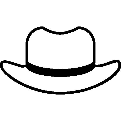 contour de chapeau avec doublure noire  Icône gratuit