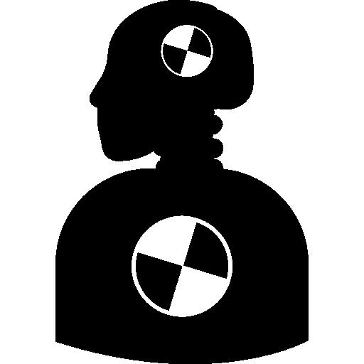 Crash testing dummy silhouette  free icon