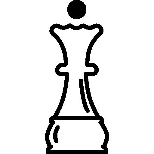 contour de la pièce d'échecs de la reine  Icône gratuit