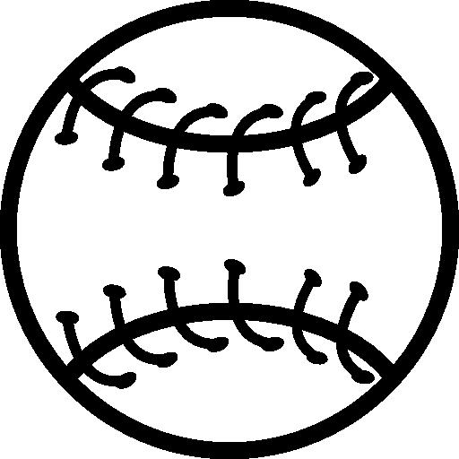 contour de balle de baseball  Icône gratuit