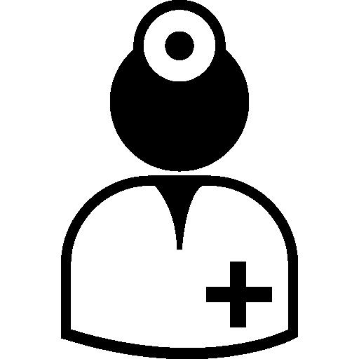 cirurgião vestindo uniforme  grátis ícone