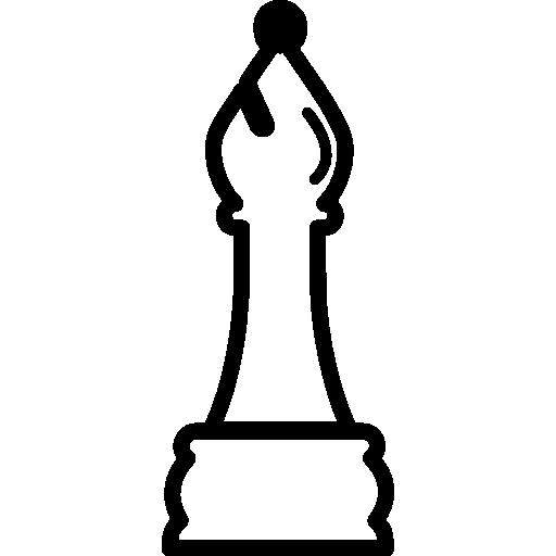 contour de la pièce d'échecs de l'évêque  Icône gratuit