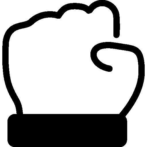 Рука закрытый кулак наброски  бесплатно иконка