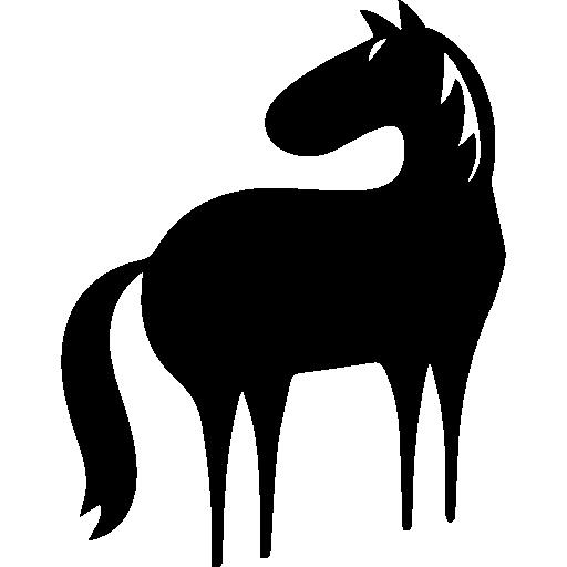 Horse full body cartoon variant facing the left direction