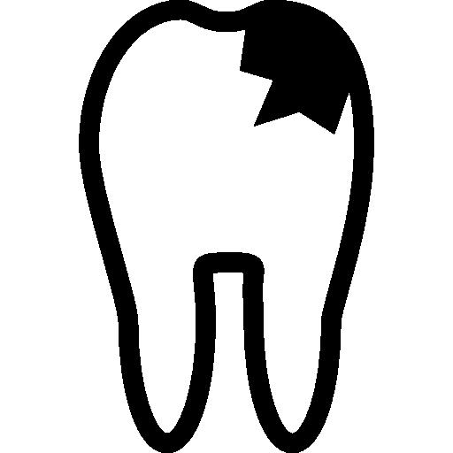 Очертание зуба при кариесе  бесплатно иконка