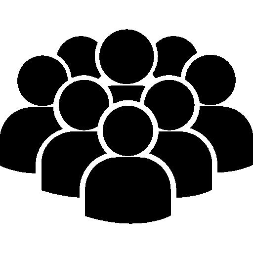 multitud de usuarios  icono gratis