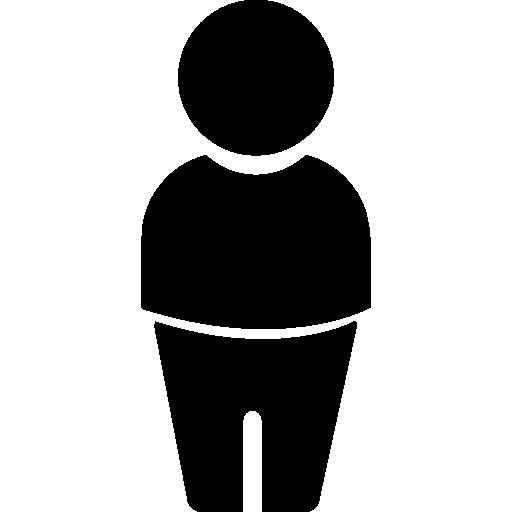 persona con una silueta de suéter  icono gratis