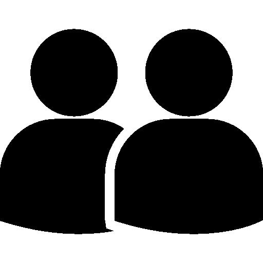 Пара пользователей силуэт  бесплатно иконка