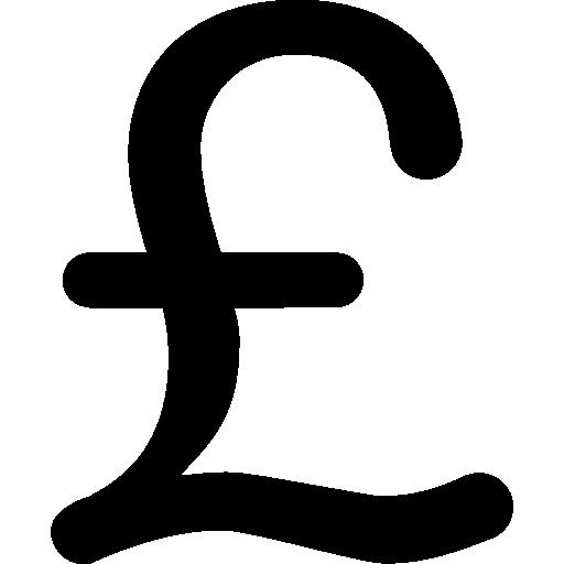 variante do símbolo de libra  grátis ícone