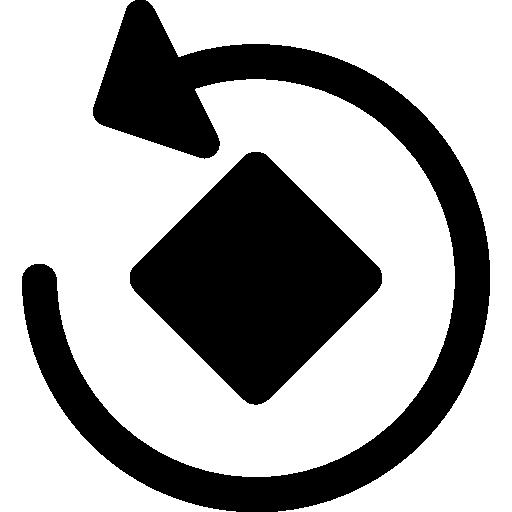 gire a seta circular em torno de um quadrado girado  grátis ícone