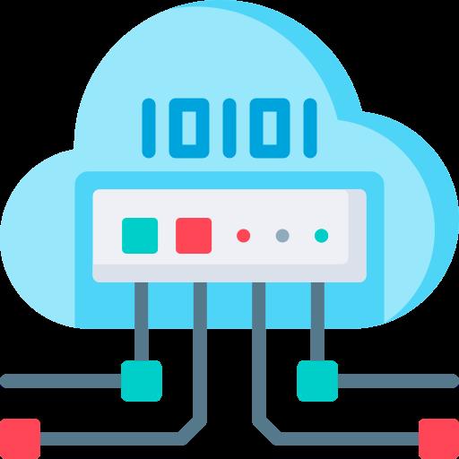 Cloud storage  free icon