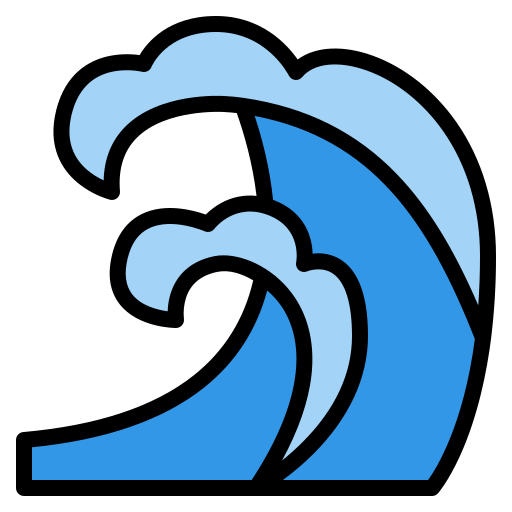 Sea waves  free icon