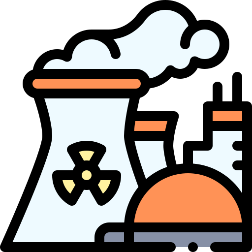 Nuclear plant  free icon